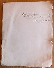 Rapport sur la réorganisation administrative de l'Algérie par Jules Ferry 1892