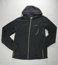 Nike Fit Dry Mens Hoodie Sweater M Black Sport Running Full Zip Logo Stretchy