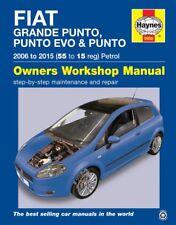 5956 Haynes Fiat Grande Punto, Punto Evo & Punto (2006 - 2015) Workshop Manual