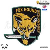 Triangle Metal Gear Solid MGS Fox Hound Special Force Group 3D PVC Patch
