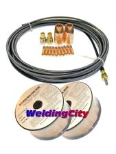 "MIG Gun Accessory Kit .023"" for Miller M-10/15 Welding Wire ER70S-6 2-lb x2 M28W"