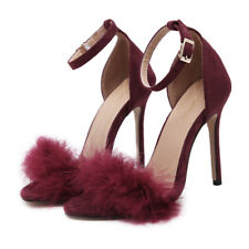 Summer Women Ankle Strap Party Peep Toe Sandals Ladies High Heel Stiletto Shoes