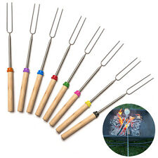 9pcs Camping Campfire Marshmallow Hot Dog veggies toast Telescoping Fork Sticks