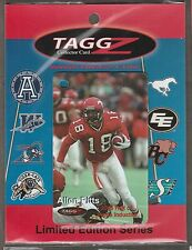 2006 CFL TAAGZ ALLEN PITTS CALGARY STAMPEDERS CARD RARE 1 OF 1000