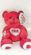 "TRUE  Love Bear Red Beanbag Plush - Magnetic Hands  - 5"" tall"