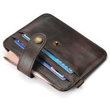 Mens Genuine Leather Money Clip Slim mini Wallet ID Credit Card Holder Case