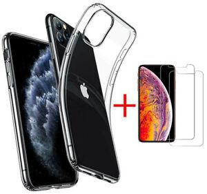 """Hülle für iPhone 11 Pro 5.8"""" Silikon Tasche Case Handy Cover + 9H Schutz Glas"""