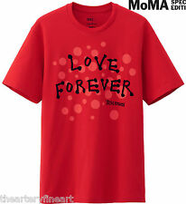 YAYOI KUSAMA x UNIQLO 'Love Forever' SPRZ NY Art T-Shirt SMALL Red ***NEW***