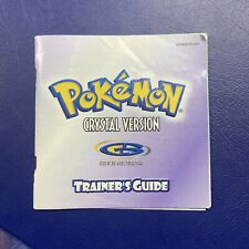 Nintendo Game Boy Color Pokemon Crystal Version Manual Trainer's Guide Only