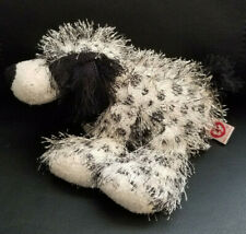 Ty Punkies Black and White Polka Dot Puppy Dog Plush/Beany - 8""