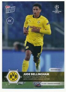 JUDE BELLINGHAM 2020 TOPPS NOW RC ROOKIE CARD BORUSSIA DORTMUND MINT SP