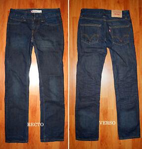 "JEANS LEVIS 511 ""Slim-fit"" W28 W29 L32 (FR t38 - t39) bleu brut"