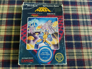 Mega Man - Nintendo - NES - Authentic - Box Only! Round Seal