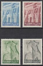 Libanon Lebanon 1962 ** Mi.786/89 Nubian Monuments UNESCO Abu Simbel Relief