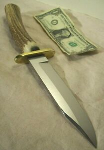 1990s~COLD STEEL SK5~UNUSED~CUSTOM STAG BOWIE CARBON V HUNTING & FIGHTING KNIFE