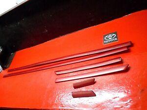 99-03 TOYOTA SOLARA DRIVER PASSENGER OUTER MOLDING TRIM STRIP DOOR BODY RED X6