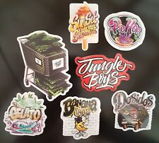 Jungle boys 7 Pack of Vinyl Stickers Cali Slap - Weed 420 710 Marijuana cannabis