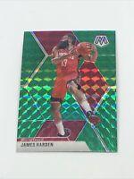 2019-20 Panini Mosaic James Harden #114 Green Prizm SP Houston Rockets