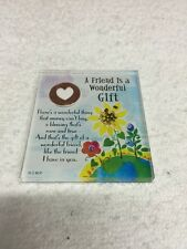 A Friend Is A Wonderful Gift Acrylic Fridge Magnet
