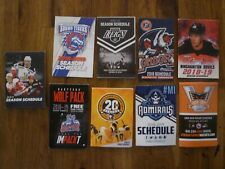 AHL Hockey Assorted Lot of 18 Pocket Schedules 2018-2019 Season