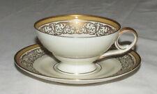 Tirschenreuth US Zone Coffee Cup & Saucer with Gold Trim
