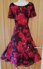 JACQUES VERT SIZE 14 16 Beautiful Ladies Long Floaty Floral Dress Ref 11