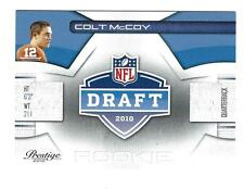 2010 Prestige NFL Draft #20 Colt McCoy Browns