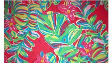 "lilly pulitzer sewing fabric Pomegranate Jungle Tumble 100%silk  39.4""X53.1"""