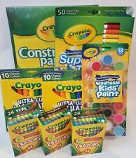 Crayola 8 Piece -Washable Markers-Crayons-Construct ion Paper-Washable Paint