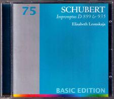 Elisabeth Leonskaja: Schubert 8 Impromptus op.90 d.899 op.142 d.935 CD Teldec