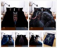 3D Venom Print Duvet Cover Kids Bedding Set Pillowcase Twin/Full/Queen/King Size