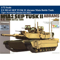 Tiger Model 9601 1/72 US M1A2 SEP TUSK II Abrams Main Battle Tank Assembly Model