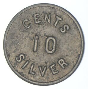 Better Date - 1917-1920 Panama Power & Light Company 10 Cents - SILVER *643