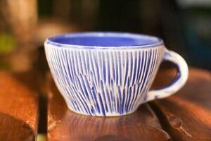 11 Oz coffee mug Blue and Yellow coffee cup Teacup Teaset Cup fot tea Colorful c