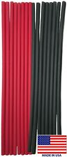 """(16) 12"""" Black Red Heat Shrink Tubing 1/4 Dual Wall Adhesive Glue Lined Wrap 3:1"""