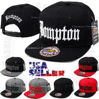 BOMPTON Baseball Cap Snapback Adjustable Hat Compton Hip Hop Flat Bill Solid Men