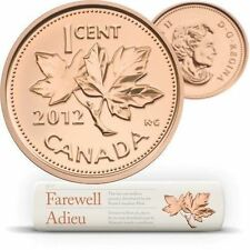 2012 CANADA Farewell to the Penny SPECIAL REPLACEMENT Wrap Roll RARE!
