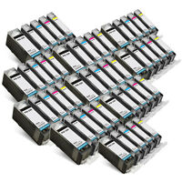 50PK Canon CLI-221 PGI-220 Ink Cartridges for PIXMA MP980 MP990 MX860 MX870