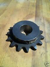 """Roller Chain Sprocket, #100, 15 T, 2 1/8"""" Bore 100BS15"""