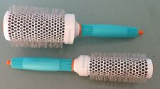 SET OF 2 MOROCCANOIL IONIC CERAMIC THERMAL ROUND BRUSH 35 & 55 mm. FREE SHIPPING