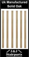 Solid Oak  Fluted Stop Chamfer Stair Spindles 41 x 41 x 900mm