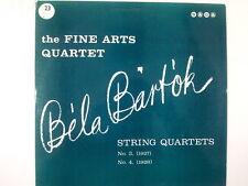 LP BELA BARTOK string quartets No 3 +4 Fine Art Quartet