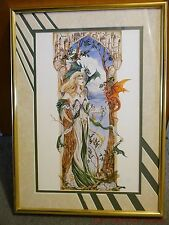 Nene Thomas Elegance Limited Edition Framed Matted Print Fairy Faery Fae