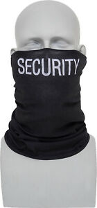 Black Security MultiUse Tactical Neck Gaiter Face Mask Balaclava Cycling Running