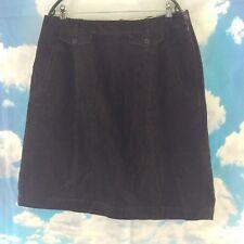 "Jigsaw Chocolate Brown Corduroy Skirt, 32"" waist, 22"" length, size 14"
