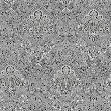 BW28703 - Shades Damask Paisley Black White Galerie Wallpaper