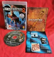 Uncharted 2 Among Thieves PS3 Playstation 3 With Manual FULLY TESTED
