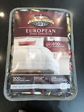 Pacific Coast Pyrenees Down Comforter King New In Package Brown With Floral