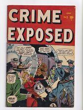Crime Exposed #1 Golden Age Marvel Comics 1948 FN/VF