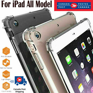 For Apple iPad Mini 2 3 4 5 Air Pro 9.7 10.2 10.5 11 12.9 2020 Clear Case Cover